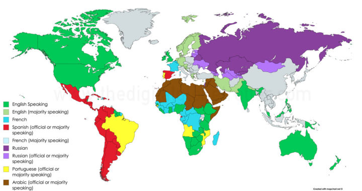 The Languages I Needed To Travel Of The World The Digital - 5 main languages of the world
