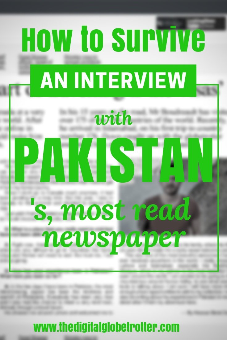 "Interview with ""Dawn News""; Pakistan's Most Read English Newspaper - #visitpakistan #pakistantrips #travelpakistan #pakistanflights #pakistanhotels #pakistanhostels #pakistanairbnb #pakistantips #pakistanbeaches #pakistanmaps #pakistanblog #pakistanguide #pakistantours #pakistanbooking #pakistaninfo #pakistantripadvisor #pakistanvisa #lahore #islamabad #kharachi #hunzapakistan #gilgitpakistan #pakistanhiking #pakistan #pakistanblog"
