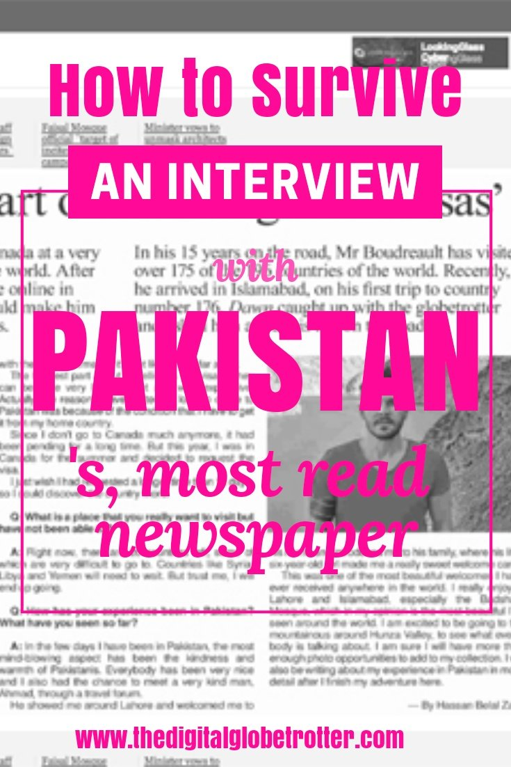 "Most traveled man interviewed by Pakistan Media - Interview with ""Dawn News""; Pakistan's Most Read English Newspaper - #visitpakistan #pakistantrips #travelpakistan #pakistanflights #pakistanhotels #pakistanhostels #pakistanairbnb #pakistantips #pakistanbeaches #pakistanmaps #pakistanblog #pakistanguide #pakistantours #pakistanbooking #pakistaninfo #pakistantripadvisor #pakistanvisa #lahore #islamabad #kharachi #hunzapakistan #gilgitpakistan #pakistanhiking #pakistan #pakistanblog"
