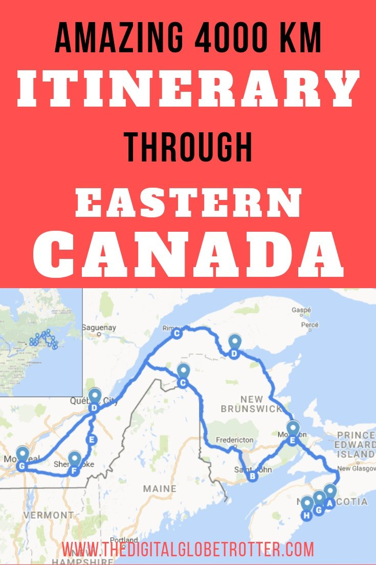 Amazing 4000 km Road Trip Itinerary Around Eastern Canada - #visitcanada #canadatrips #travelcanada #canadaflights #canadahotels #canadahostels #canadaairbnb #canadatips #canadabeaches #canadamaps #canadablog #canadaguide #canadatours #canadabooking #canadainfo #canadatripadvisor #canadavisa #canada #halifax #quebec #newbrunswick #stjohn #canadablog