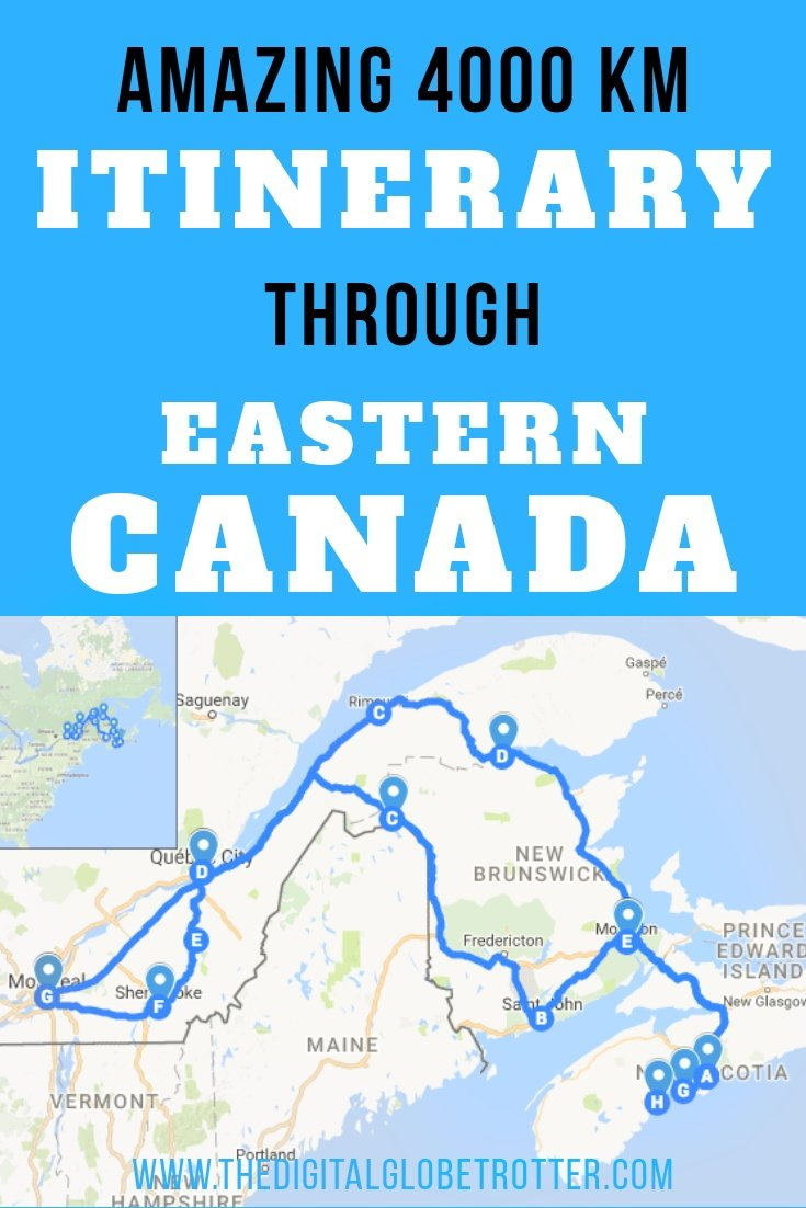 Canada guide: Amazing 4000 km Road Trip Itinerary Around Eastern Canada - #visitcanada #canadatrips #travelcanada #canadaflights #canadahotels #canadahostels #canadaairbnb #canadatips #canadabeaches #canadamaps #canadablog #canadaguide #canadatours #canadabooking #canadainfo #canadatripadvisor #canadavisa #canada #halifax #quebec #newbrunswick #stjohn #canadablog