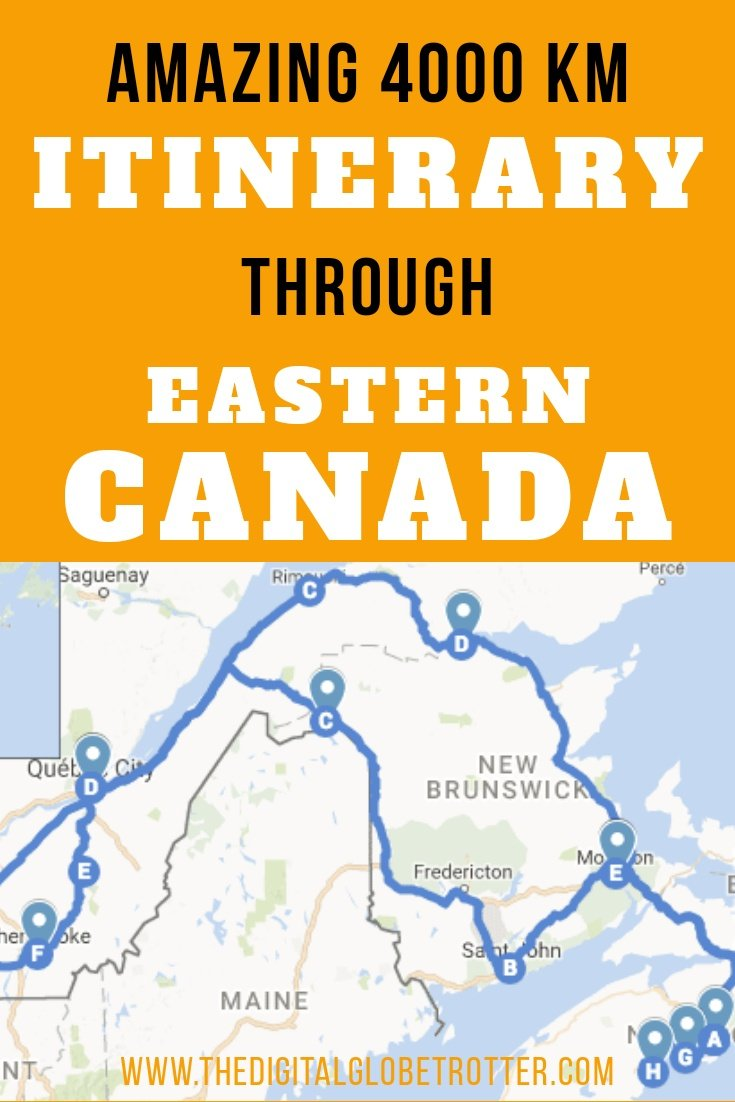 Ultimate Canadian road trip in the east: Amazing 4000 km Road Trip Itinerary Around Eastern Canada - #visitcanada #canadatrips #travelcanada #canadaflights #canadahotels #canadahostels #canadaairbnb #canadatips #canadabeaches #canadamaps #canadablog #canadaguide #canadatours #canadabooking #canadainfo #canadatripadvisor #canadavisa #canada #halifax #quebec #newbrunswick #stjohn #canadablog