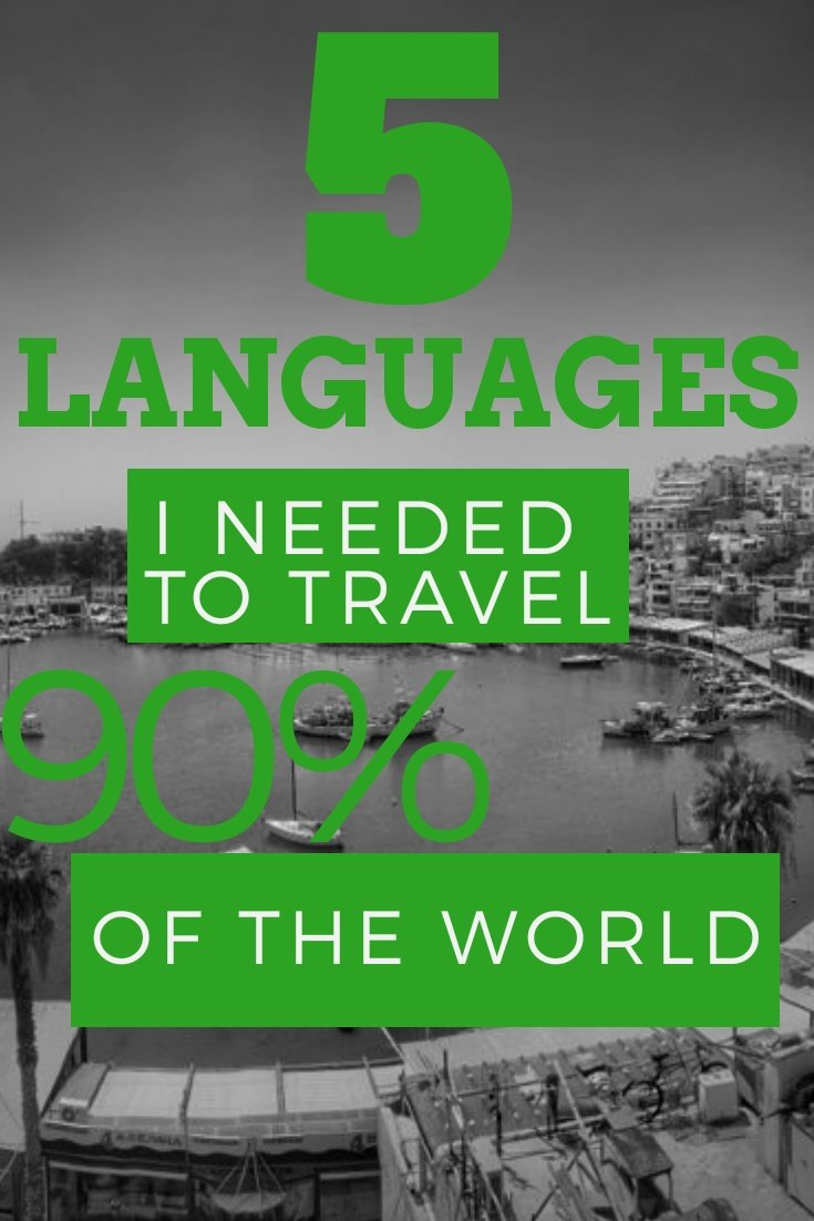 Best 5 Languages to travel The 5 Languages I Needed to Travel 90% of the World #traveler #languages #bilingual #learnlanguage #communication #culture #travelworld #travellanguage #spanish #french #english #portuguese #russian