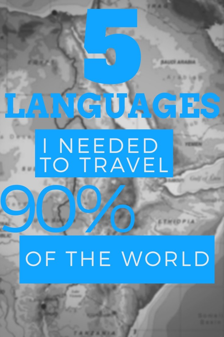 Learn Languages to travel better: The 5 Languages I Needed to Travel 90% of the World #traveler #languages #bilingual #learnlanguage #communication #culture #travelworld #travellanguage #spanish #french #english #portuguese #russian