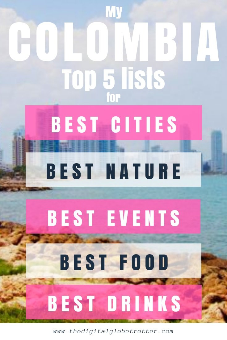 Top things to do in Colombia - My Colombia Top 5 Lists for Best Activities, Food, Things to do, People, cities - #visitcolombia #colombiatrips #travelcolombia #colombiaflights #colombiahotels #colombiahostels #colombiaairbnb #colombiatips #colombiabeaches #colombiamaps #colombiablog #colombiaguide #colombiatours #colombiabooking #colombiainfo #colombiatripadvisor #colombiavisa #blog