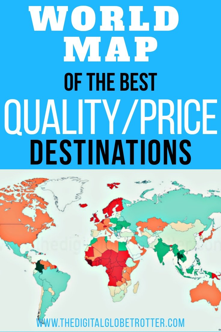 World map of the best qualityprice destinations through the eyes great information for travelers and digital nomads world map of the best quality price publicscrutiny Images