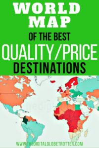 Great Post. Great information for travelers and digital nomads: World Map of the Best Quality / Price Destinations, Through the Eyes of a Man Who Visited Them All #digitalnomad #cheapaccommodation #travelcheap #budgettravel #budgettraveltips #travel #worldmap #travelworld #worldtravel #cheapflights #traveltips #travelhacks