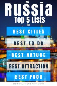 Awesome tips for Russia - My Russia Top 5 Lists Best Cities, best Nature, Best food, Best festivals #visitrussia #russiatrips #travelrussia #russiaflights #russiahotels #russiahostels #russiaairbnb #russiatips #russiabeaches #russiamaps #russiablog #russiaguide #russiatours #russiabook #russiainfo #russiatripadvisor #visitmoscow russiatours #transsiberian #visitstpetersburg #stpetersburgtips #moscowtips