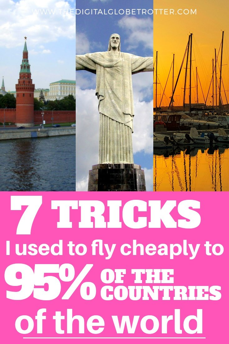Awesome tips! From one of the world's most travelled man: 7 Tricks OUsed to Fly Cheaply to Over 95% of the Countries of the World #cheapflights #flights #cheapairfare #cheaptravel #traveltips #cheaptips #travelhacks #traveltricks #savemoney #travelsavings