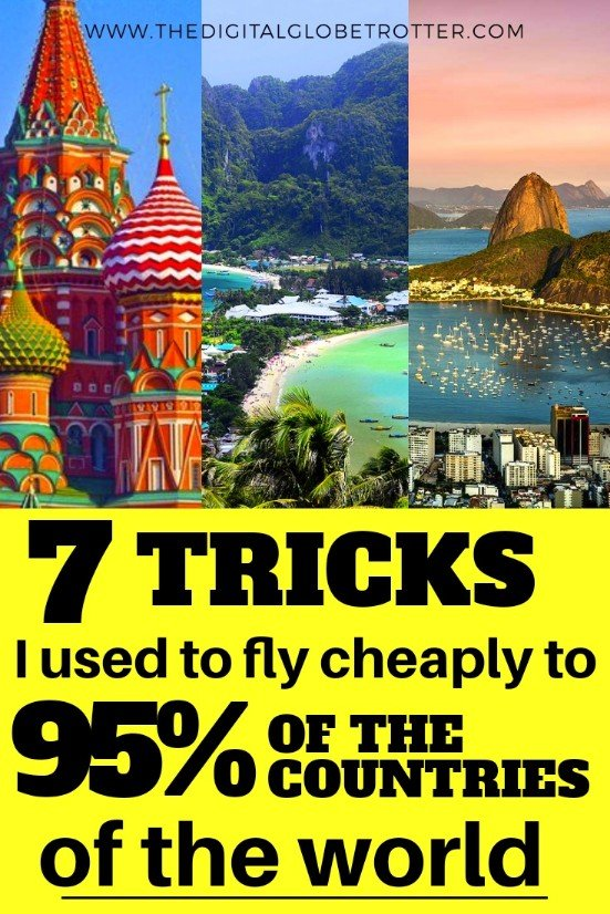 Very AWESOME & Great Travel tips to save money - From one of the world's most travelled man: 7 Tricks OUsed to Fly Cheaply to Over 95% of the Countries of the World #cheapflights #flights #cheapairfare #cheaptravel #traveltips #cheaptips #travelhacks #traveltricks #savemoney #travelsavings