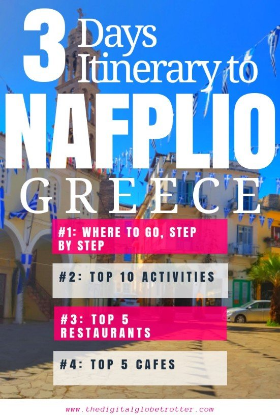 Great Greece guide - Top Things to do in Nafplio, the Ancient Capital of Greece - The Digital Globetrotter - #greece #travelgreece #greecetraveltips #greecetraveltips #gotogreece #greecemap #greeceathens #greecetourism #athenspointofinterest #athenstraveladvice #exploringathens #thingstodoinathens #traveleurope #travelworld #greecetips #athens #cheapgreece #travelblog #travelblogger #nafplio #travelnafplio #nafpliogreece #nafpliohotels
