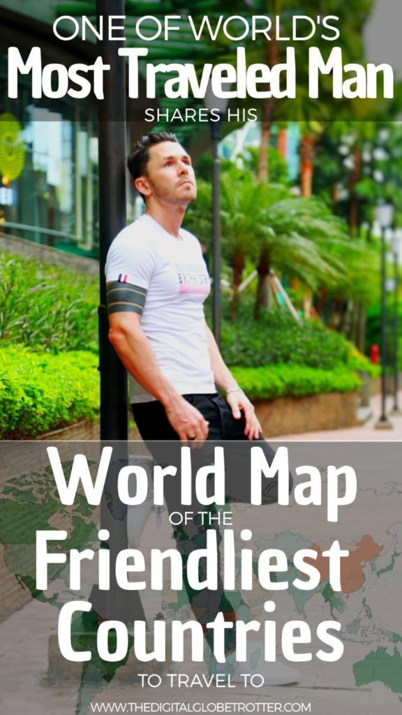 Interesting Map - World Map of the Friendliest Countries to Travel – in the Eyes of a Man Who Visited Them All - #friendliestcountries #friendliestcountriesintheworld #leastfriendliestcountries #friendliestcountriesintheworld #friendliestcountryintheworld #leastwelcomingcountries #mostwelcomingcountries