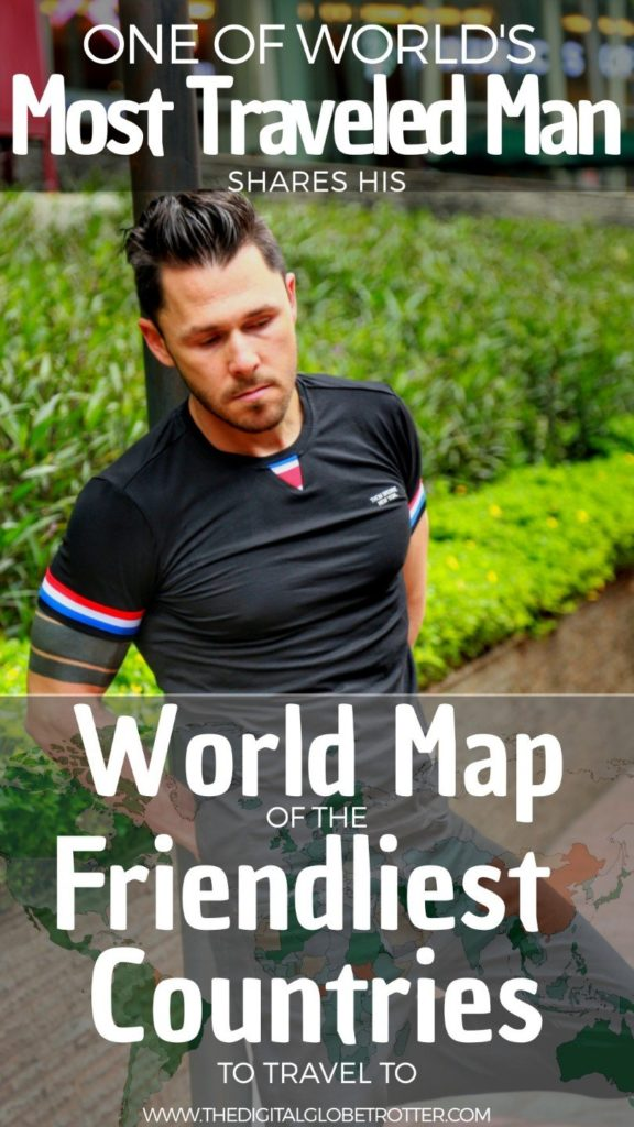 AMAZING map - World Map of the Friendliest Countries to Travel – in the Eyes of a Man Who Visited Them All - #friendliestcountries #friendliestcountriesintheworld #leastfriendliestcountries #friendliestcountriesintheworld #friendliestcountryintheworld