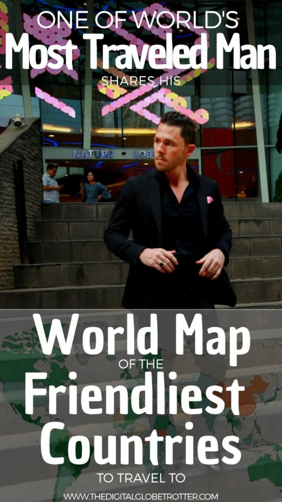 Super useful Map - World Map of the Friendliest Countries to Travel – in the Eyes of a Man Who Visited Them All - #friendliestcountries #friendliestcountriesintheworld #leastfriendliestcountr #worldsmostwelcomingcountries #mostwelcomingcountriesroughguides #friendliestcountriesintheworld #countriesmostwelcomingtoexpats #countrycomparison #bestcountries
