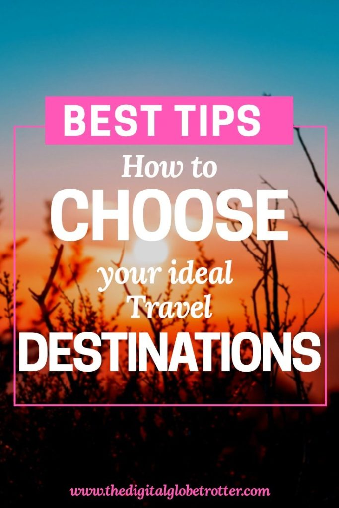Great post! How to Choose Your Ideal Travel Destinations #travel #traveling #budgettravel #traveldestinations #travelblogers #traveltips #travelplanning #backpacking #backpackers #globetrotter #cheapflights