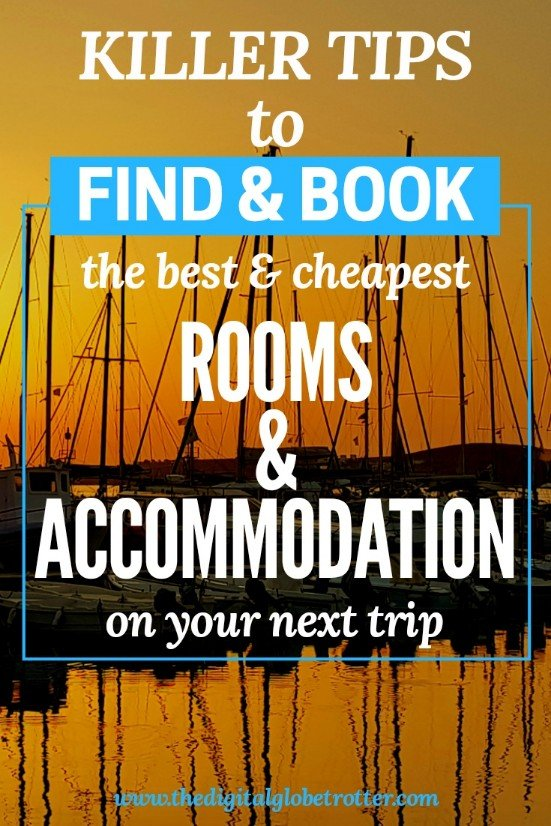 Great pin: How to Find and Book the Best & Cheapest Accommodation for your Travels - #travel #traveling #budgettravel #traveldestinations #travelblogger #travelblog #traveltips #travelplanning #backpacking #backpackers #globetrotter #cheapflights #worldtravel #gapyear #howtotravel #travelguide