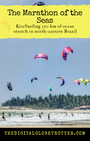 "Incredible - the ""Marathon of the Seas"" expeditions: KiteSurfing 350 km of Ocean Stretch Off the Brazilian Coast  - #kitesurf #digitalnomad #cabrinha #duotone #ceara #brazil #downwind #globetrotter #travel"