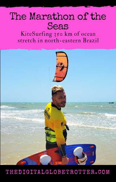 "The ""Marathon of the Seas"" expeditions: KiteSurfing 350 km of Ocean Stretch Off the Brazilian Coast  - #kitesurf #digitalnomad #cabrinha #duotone #ceara #brazil #downwind #globetrotter #travel"